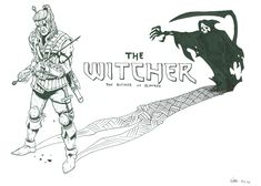 "Doing another short comic about the witcher using this as cover page. This time a part of the ""Butcher of Blaviken"" storyline from the book T. Butcher of Blaviken - cover The Last Wish, Short Comics, The Witcher, Cover Pages, Scribble, Deviantart, Drawings, Sketches, Doodles"