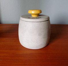 Mid Century Studio Pottery Salt jar by skinnykidvintage on Etsy, $28.00