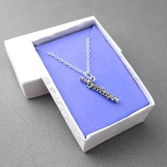 Sterling Silver Flute Necklace Band Student Instrument Gift @singingbeader