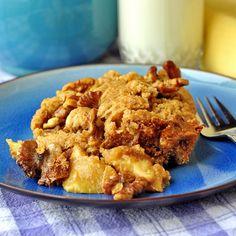 Caramel Apple and Walnut (or pecan) cobbler