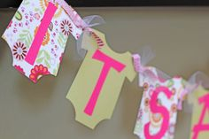 Its a Girl Onesie banner by sweetshoppepaperie on Etsy, $20.00