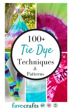 Get ready for summer with this epic collection of 100+ Tie Dye Techniques and Patterns.