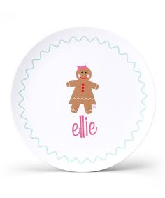 Take a look at this Gingerbread Girl Personalized Plate by Lima Bean Kids on #zulily today!