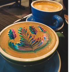 Lovely Rainbow, Latte Art. ❤☕