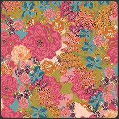 Splendor 1920 English Garden Feisty Fabric by by CraftyMtnGirl, $8.49