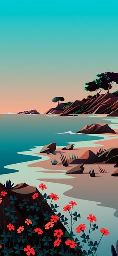 Lake, The Beach Day – Official from iOS 14.2 | Stock Wallpaper - Wallpapers Central in 2021 | Stock wallpaper, Iphone wallpaper images, Minimalist wallpaper