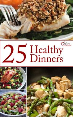 Need a little motivation to cook healthy dinners? Here are 25 scrumptious meal plans. These are clean (no pork, no shellfish). Healthy (no sugar, almost no gluten). [easyazon_block add_to_cart=&#82…