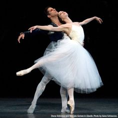 Diana Vishneva as Giselle and Marcelo Gomes as Albrecht (at The Metropolitan Opera , May 26th 2015) # photo Gene Schiavone