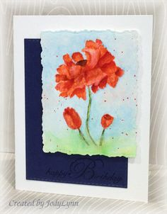 FS414 Watercolor Poppies by jodylb - Cards and Paper Crafts at Splitcoaststampers