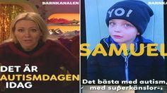 Møt Freja og andre barn med autisme i en kort video fra SVT.