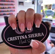 French Acrylic Nails, Cute Acrylic Nails, Cute Nails, Pretty Nails, Manicure Nail Designs, Pink Nail Designs, Nail Manicure, Glow Nails, Glitter Nails