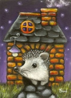 """""""Hedgehog in His Cosy Little Home"""" by Tanya Bond"""