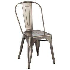 Industrial Steel Tolix Dining Chair Gunmetal Finish TLXDC-GNMT