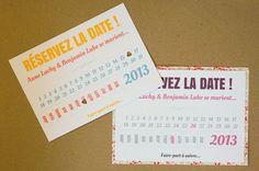Faire-part de mariage original Luv Calendar - Papeterie Dentelle