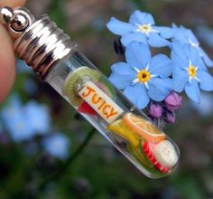 Fruit Vial Pendant