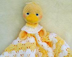 Crochet Pattern Duck Huggy Blanket by Teri Crews instant download PDF format