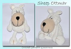 crochet pattern amigurumi  sheep Ottmar  pdf by MOTLEYCROCHETCREW, €4.18