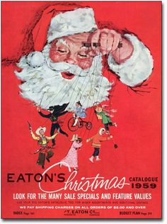 Collection of Vintage Christmas Catalog Covers from stores like Sears and Eatons. Images Noêl Vintages, Images Vintage, Vintage Christmas Images, Retro Christmas, Vintage Holiday, Christmas Kitchen, Christmas Catalogs, Christmas Books, Christmas Wishes