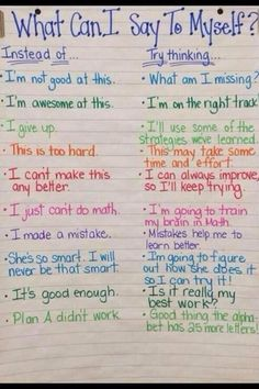 A great anchor chart to promote persistence, resilience and HARD WORK! #Resilience
