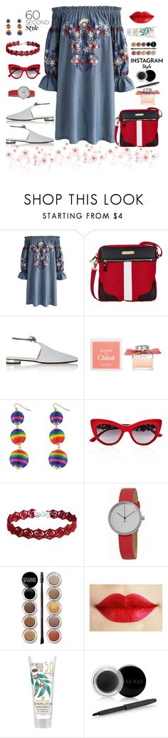"""""""Archsan 60second style"""" by archsan ❤ liked on Polyvore featuring Chicwish, Davey's, Barneys New York, Chloé, Dolce&Gabbana, Skagen, Giorgio Armani, Mary Kay, 60secondstyle and PVShareYourStyle"""
