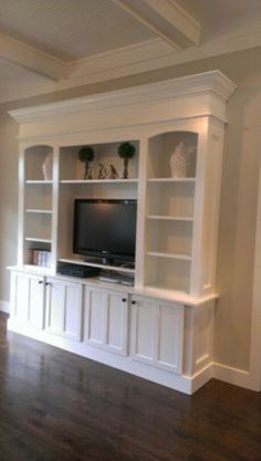 How to build an entertainment wall unit how to build an entertainment wall unit corner built . how to build an entertainment wall unit Diy Furniture Entertainment Center, Entertainment Center Wall Unit, Entertainment Ideas, Entertainment Products, Living Room Built Ins, Living Rooms, Muebles Living, Built In Bookcase, Bookcases