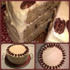 Hummingbird cake with cream cheese frosting and roasted pecans #great recipe from addapinch.com