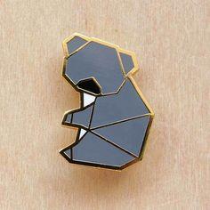 Image of Origami pins: Koala Bear