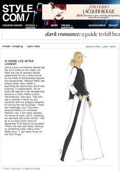 marissa's sketch on style.com landing page.  we're counting down the days to fashion week presentation at lincoln center
