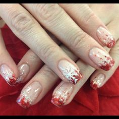 French nail art christmas
