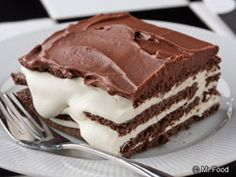 Black and White Napoleon Pudding-This dessert is, easily, adapted for a low calorie dessert...also okay for diabetics...use sugar free pudding, fat-free whipped topping, less sugar graham crackers (not chocolate) and no chocolate frosting.   My family loves this version.