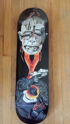 """Math.I """"dry ink syndicate"""" Orginal Art Skateboard Deck  This deck was created for The Dark Slide Spring 2014 Skateboard Deck Art Show at Eronel.  *note deck is currently in show and will not ship until first part of July  A little more about Math.I.  You might have seen his artwork for Amph..."""
