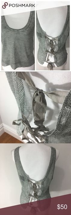 Sheer knit top tie back In excellent condition, no flaws or stains. 3.1 Phillip Lim Tops Camisoles