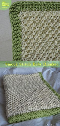 Free Crochet Pattern #SmockStitch #BabyBlanket #CrochetBlanket Throw | size: any | Written PDF | US Terms Level: upper beginner yarn: Lion Brand Cotton-Ease hook: 5 mm Author: by Mary Greaney