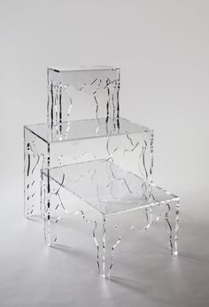 So in love with our acrylic Rococo series...available in coffee, console, and martini. Tara Shaw Maison.