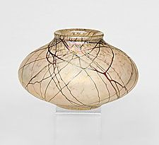 $166   Champagne and Lace Seed Pot by Bryce Dimitruk (Art Glass Vase)