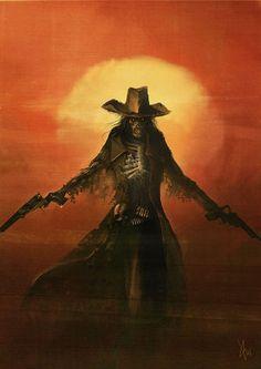 The Harrowed, an undead gunslinger from Deadlands...would make a cool tat