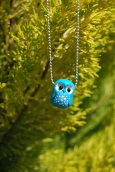 Turquoise owl pendant por Hybridary en Etsy, €12.00 Owl Pendant, My Etsy Shop, Turquoise, Christmas Ornaments, Holiday Decor, Handmade Gifts, Hand Made, Green Turquoise, Christmas Jewelry