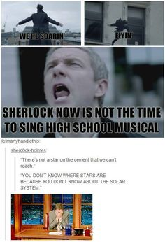 Sherlock & Craig ferguson! (I know very little about High School Musical, but this is still very clever.) :)