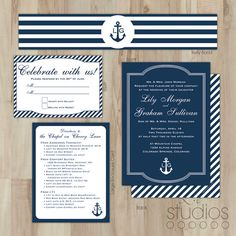 Nautical Wedding Invitation // Large Enclosure Card by lestudios, $15.00
