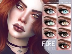 Lana CC Finds - Fire Eyes N99 by Pralinesims