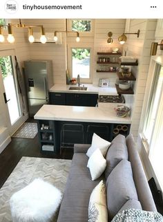 Container House - Our Tiny House on Wheels on 100 Days of Real Food - Who Else Wants Simple Step-By-Step Plans To Design And Build A Container Home From Scratch? Tyni House, Tiny House Living, Small House Diy, Living Room, Tiny House Movement, Tiny House Plans, Tiny House On Wheels, Tiny Spaces, Small Apartments