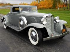 1931 Marmon Sixteen, one of only two known. Marmon, in its short life, left its imprint on the auto industry by pioneering the use of the rear view mirror, the V-16 engine and the use of aluminum in automobile manufacturing.