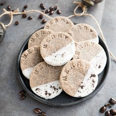 Buttery Coffee And Cardamom Rounds Dipped In White Chocolate. The First In A 12 Part Holiday Cookie Series By A Sweet Li... - #89390 - Tasteologie