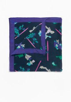 & Other Stories   Rock Garden Silk Scarf