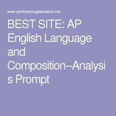 ap lit and comp essay prompts Unsure of where to turn for a definitive ap english literature reading list  ap english literature prompts  ap chemistry ap comparative government ap crash.