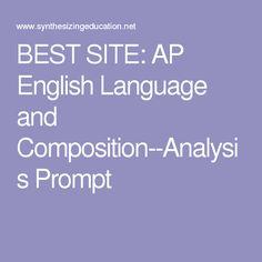 ap language composition essay prompts