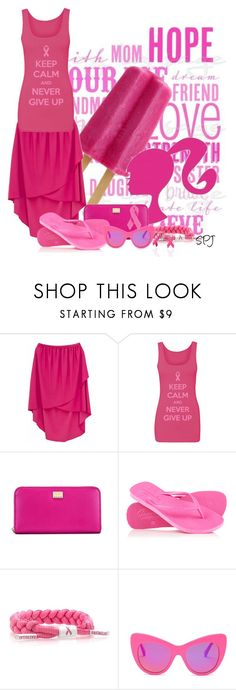 """""""Pink for Breast Cancer Awareness"""" by s-p-j ❤ liked on Polyvore featuring Dolce&Gabbana, Superdry, Rastaclat, STELLA McCARTNEY and Bling Jewelry"""