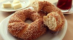 Simit is one of the most common pastries in Turkey with Borek. Most of Turkish food sesame bagel people eat a simit almost every morning, for breakfast. In T...