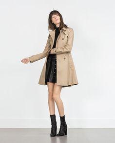 Image 1 of PEPLUM TRENCH COAT from Zara
