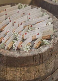 Best ideas for wedding reception ideas table place cards Wedding Reception Tables, Wedding Seating, Reception Decorations, Reception Ideas, Wine Cork Wedding, Diy Wedding, Rustic Wedding, Wedding Blog, Wedding Souvenir